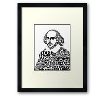 SHAKESPEARE TEXT ART Framed Print