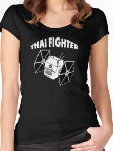 THAI FIGHTER - FOOD WARS Women's Fitted Scoop T-Shirt