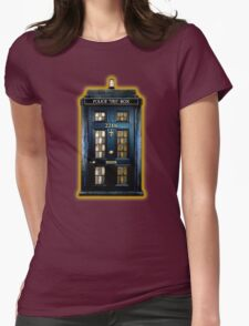 Space Traveller Box with 221b number Womens Fitted T-Shirt