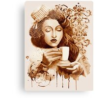 Espresso Lady Canvas Print