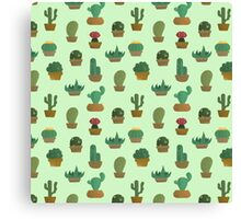 Cactus Pattern Canvas Print