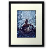 Man and the dragon Framed Print