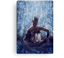 Man and the dragon Canvas Print