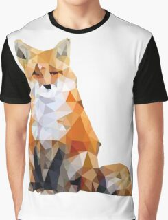 Geometric Fox Graphic T-Shirt