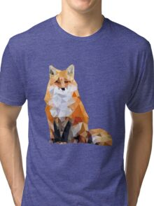 Geometric Fox Tri-blend T-Shirt