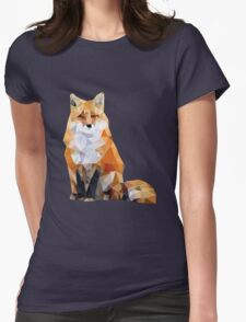 Geometric Fox Womens Fitted T-Shirt