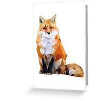Geometric Fox Greeting Card