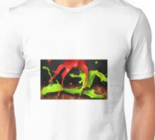 Green and red color splashes Unisex T-Shirt