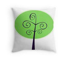 Ornamental Tree illustration isolated on white ( green ) Throw Pillow