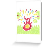 Jumping Happy Creature Greeting Card