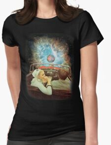 SPACE TRIP. Womens Fitted T-Shirt