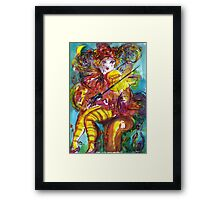 PIERO PLAYING VIOLIN / Venetian Carnival Night Framed Print