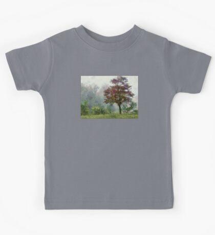 Tree In Lifting Fog Kids Tee