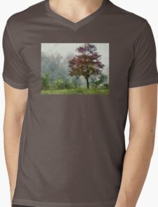 Tree In Lifting Fog Mens V-Neck T-Shirt