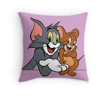 Tom and Jerry Throw Pillow