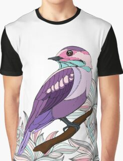 Purple bird vector illustration print Graphic T-Shirt