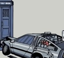 Doctor Who Meets Back to the Future Sticker