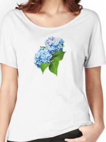 Blue Hydrangea Profile Women's Relaxed Fit T-Shirt