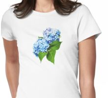 Blue Hydrangea Profile Womens Fitted T-Shirt