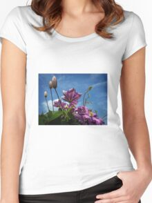 Clematis Women's Fitted Scoop T-Shirt