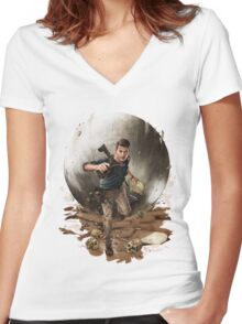 Games :: Uncharted 4 :: Art Women's Fitted V-Neck T-Shirt