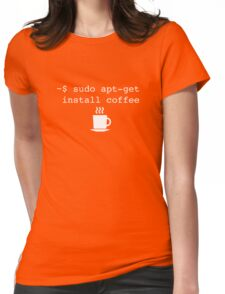 Command Line Coffee Install Womens Fitted T-Shirt