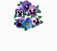 Circle of Purple Pansies Womens Fitted T-Shirt