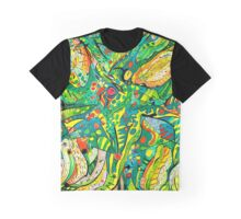 LILIES AND LEAVES Graphic T-Shirt