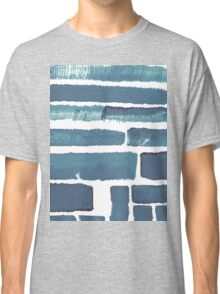 Blue different brush strokes Classic T-Shirt