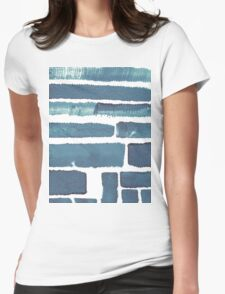 Blue different brush strokes Womens Fitted T-Shirt