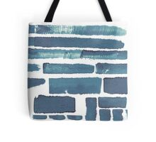 Blue different brush strokes Tote Bag