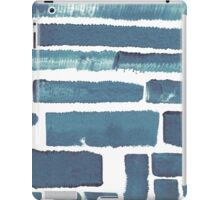 Blue different brush strokes iPad Case/Skin