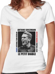 Antoine Griezmann - Vector Women's Fitted V-Neck T-Shirt