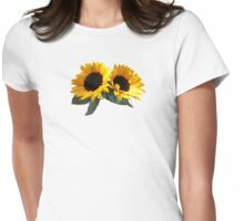 Sunny Sunflowers Womens Fitted T-Shirt