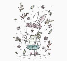 Summer Bunny  Baby Tee
