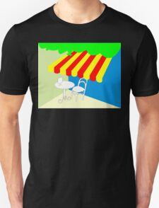 Terrace with table and chair Unisex T-Shirt