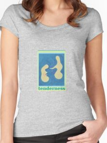 Tenderness Acrylic Abstract Art  Women's Fitted Scoop T-Shirt