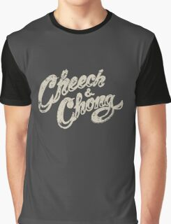 Cheech And Chong Vintage Logo 70's Graphic T-Shirt