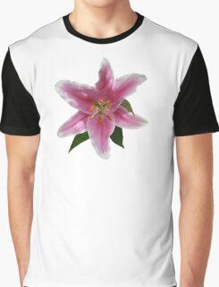 Single Stargazer Lily Graphic T-Shirt