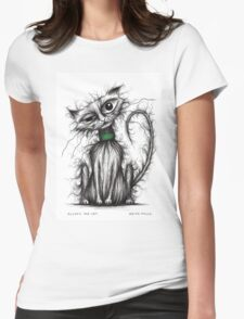 Fluffy the cat Womens Fitted T-Shirt