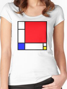 Squares_3 Women's Fitted Scoop T-Shirt