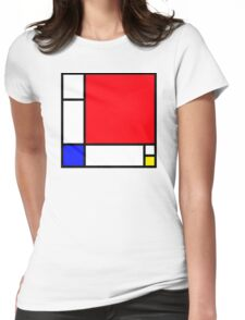 Squares_3 Womens Fitted T-Shirt