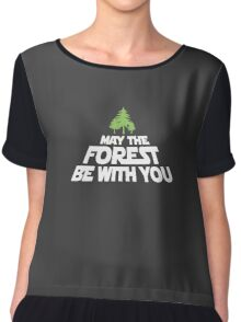 May The Forest Be With You funny logo tshirt Chiffon Top