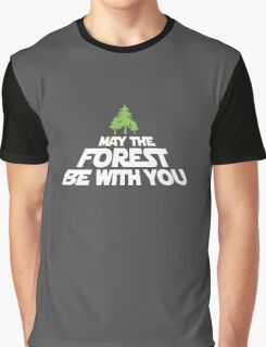 May The Forest Be With You funny logo tshirt Graphic T-Shirt