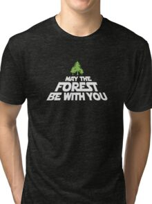 May The Forest Be With You funny logo tshirt Tri-blend T-Shirt