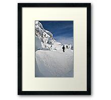 climbing weissmies  Framed Print