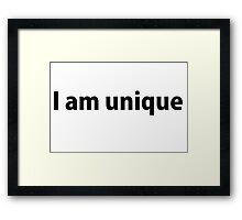 I am unique Framed Print