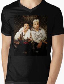 BigBang GD&TOP Kpop Big Bang Top G Dragon Mens V-Neck T-Shirt