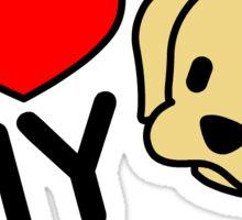 I Love My Labrador Sticker