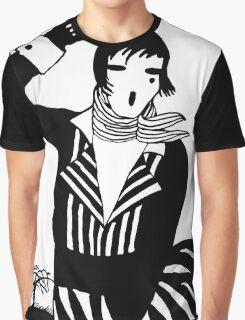 The female Scream, black and white Vector Art Graphic T-Shirt